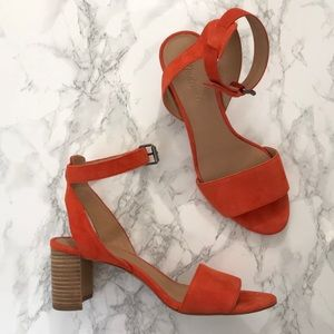 Madewell Orange Block Sandals Size 7.5